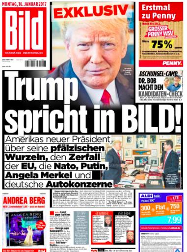 Інтерв'ю німецькій газеті Bild змінило тональність європейського медійног висвітлення